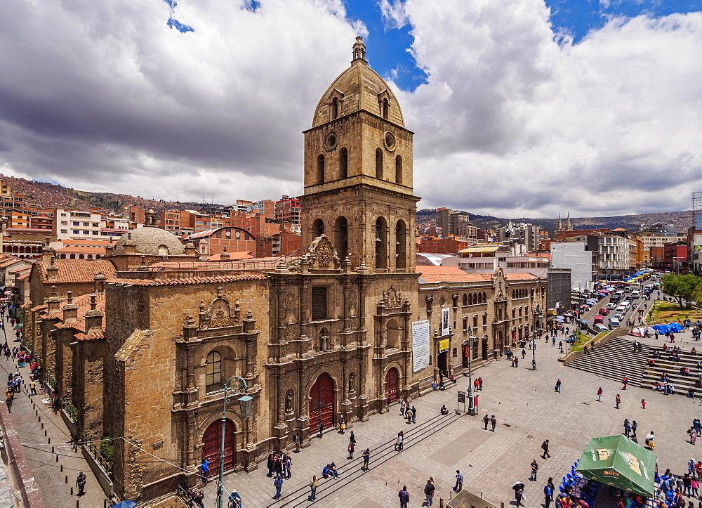 Basilica of San Francisco, elevated view, La Paz, Bolivia