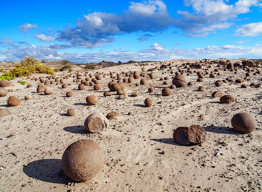 Cancha de bochas (Bowls Pitch) Formation, Ischigualasto Provincial Park, UNESCO World Heritage Site, San Juan Province, Argentina, South America