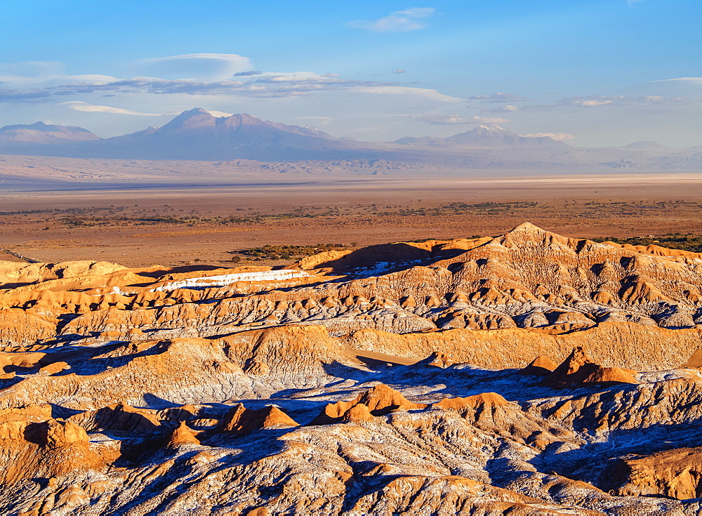 Valle de la Luna, The Moon Valley near San Pedro de Atacama, elevated view, Atacama Desert, Antofagasta Region, Chile