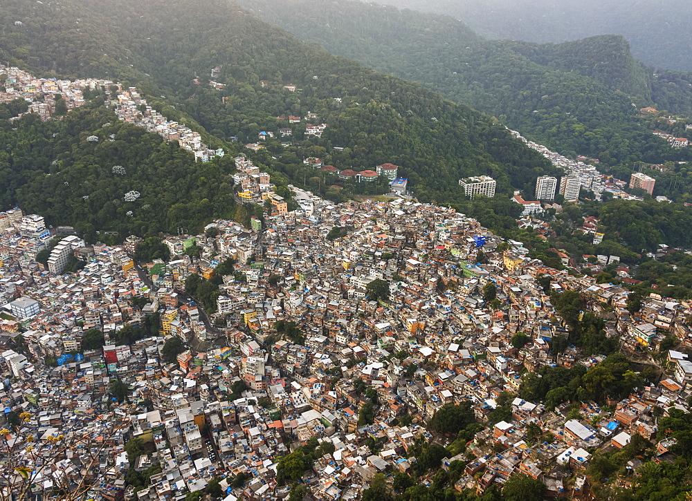Rocinha Favela, elevated view, Rio de Janeiro, Brazil