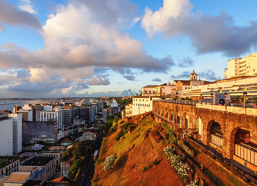 Old Town at sunset, Salvador, State of Bahia, Brazil