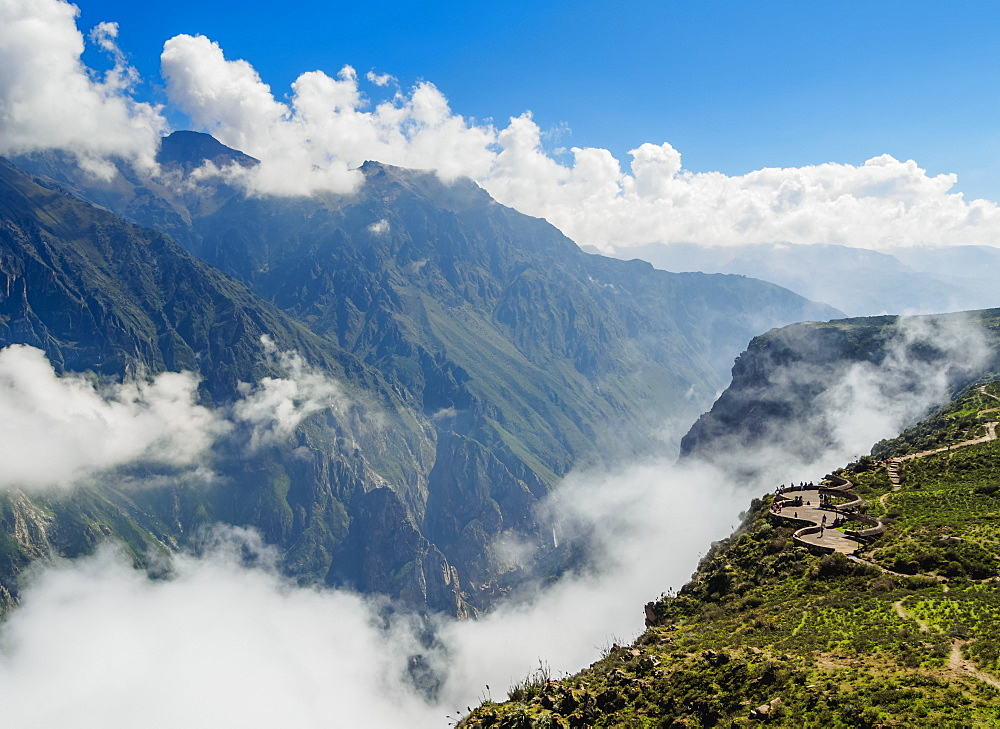 Canyon Colca View Point, Cruz del Condor, Arequipa Region, Peru, South America