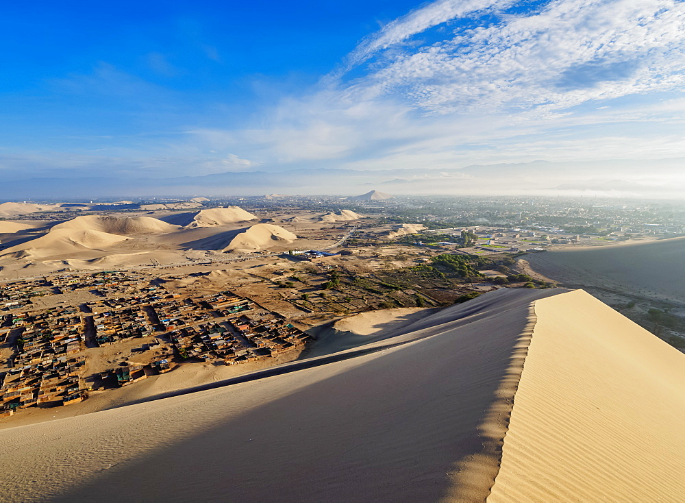 Sand dunes of Ica Desert near Huacachina, Ica Region, Peru, South America
