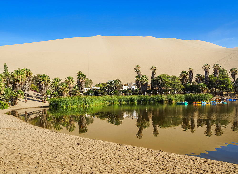 Huacachina Oasis and Lake, Ica Region, Peru, South America