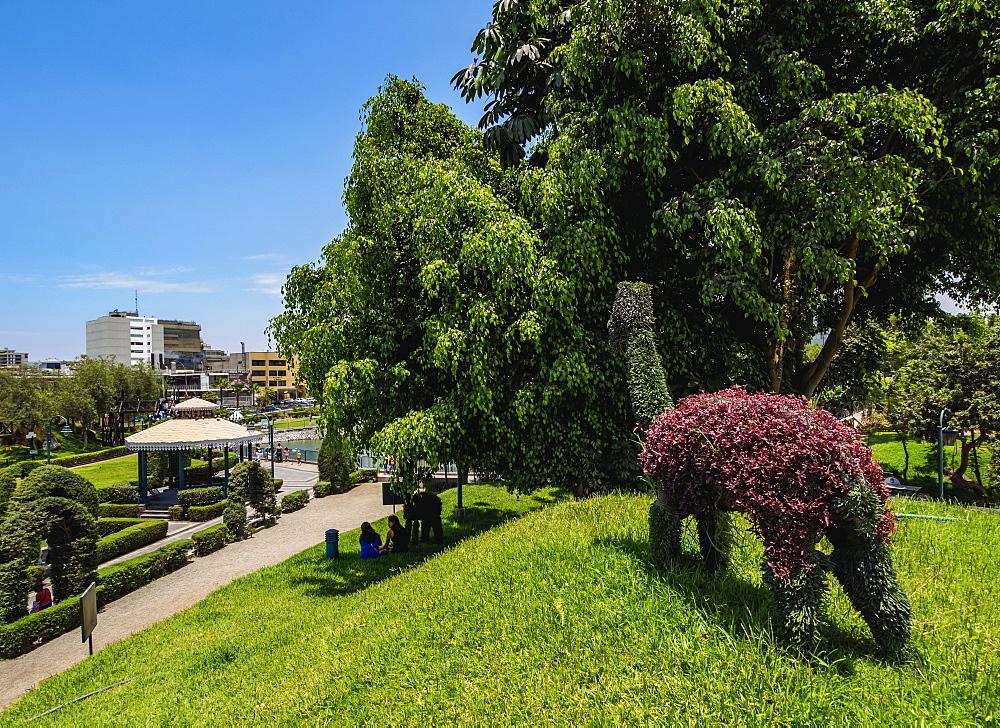 Green Llama in Parque de la Amistad, Friendship Park, Santiago de Surco District, Lima, Peru - 1245-638