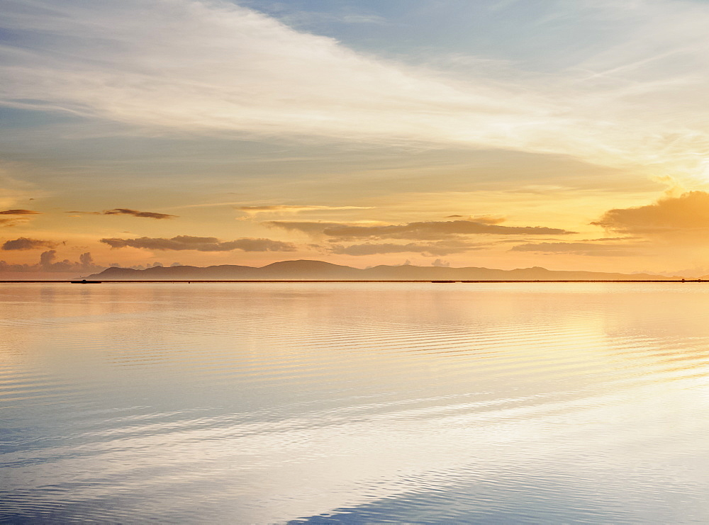 Lake Titicaca at sunrise, Puno, Peru, South America