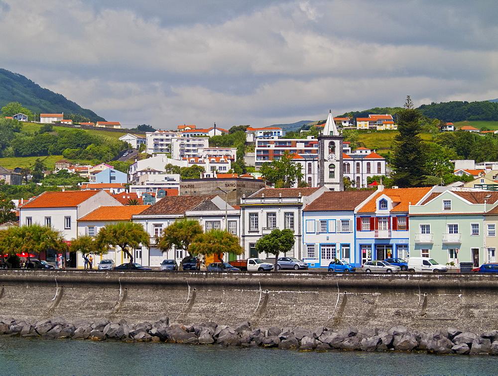 Horta skyline, Faial Island, Azores, Portugal, Atlantic, Europe
