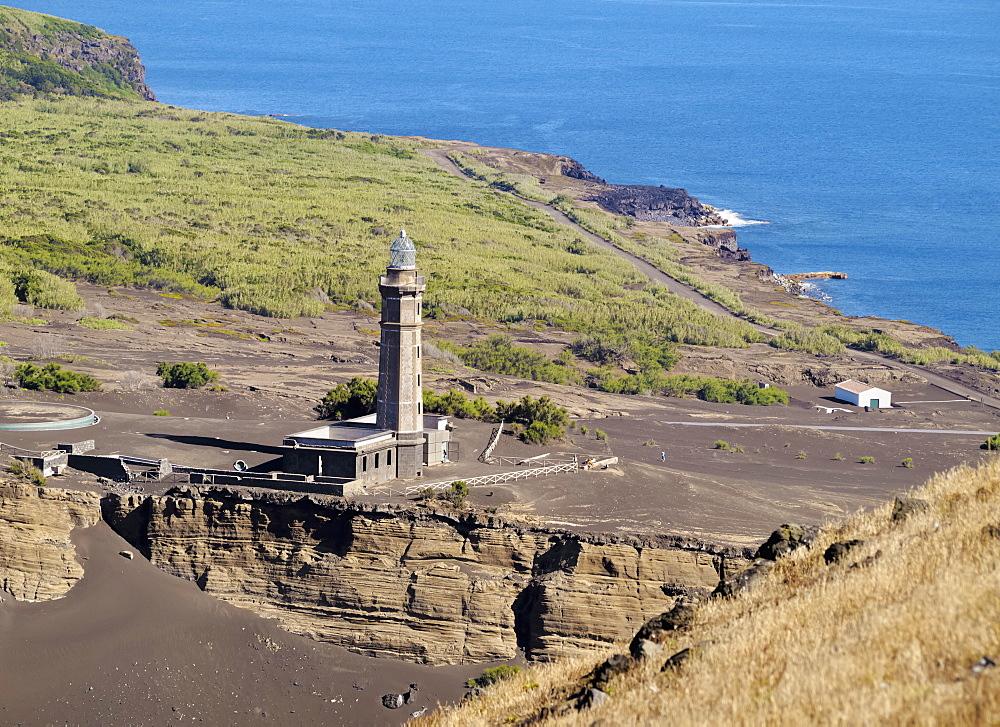Capelinhos Lighthouse, Faial Island, Azores, Portugal, Atlantic, Europe