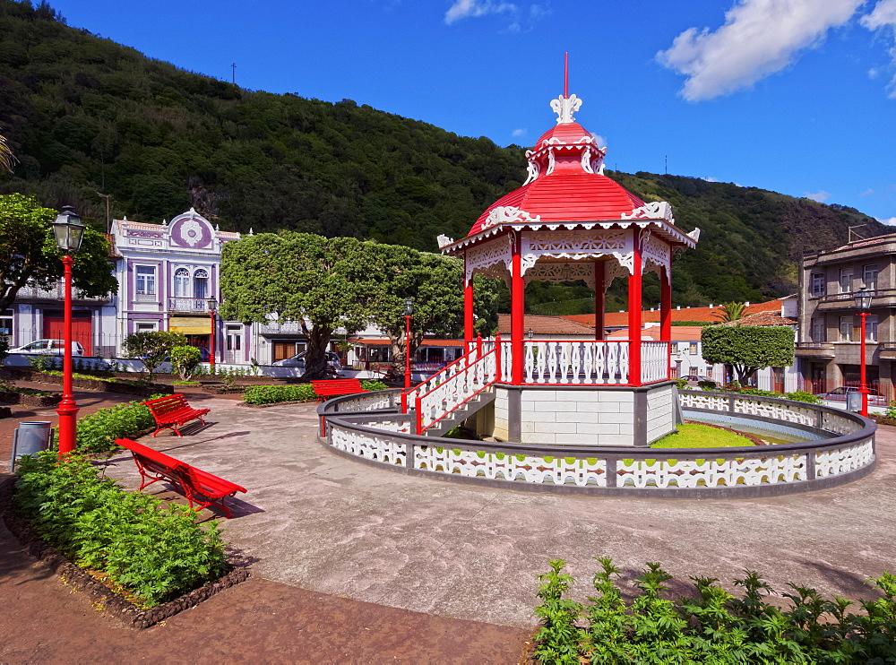 Bandstand in Jardim da Republica, Velas, Sao Jorge Island, Azores, Portugal, Atlantic, Europe