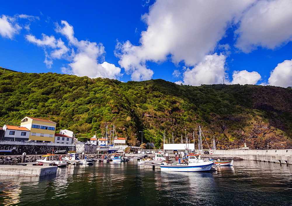 Port in Velas, Sao Jorge Island, Azores, Portugal