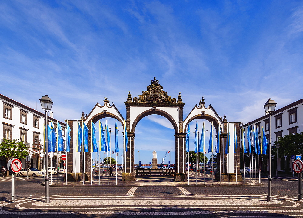 City Gates, Ponta Delgada, Sao Miguel Island, Azores, Portugal, Atlantic, Europe