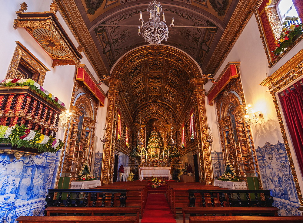 Church of Santo Cristo, interior, Ponta Delgada, Sao Miguel Island, Azores, Portugal, Atlantic, Europe