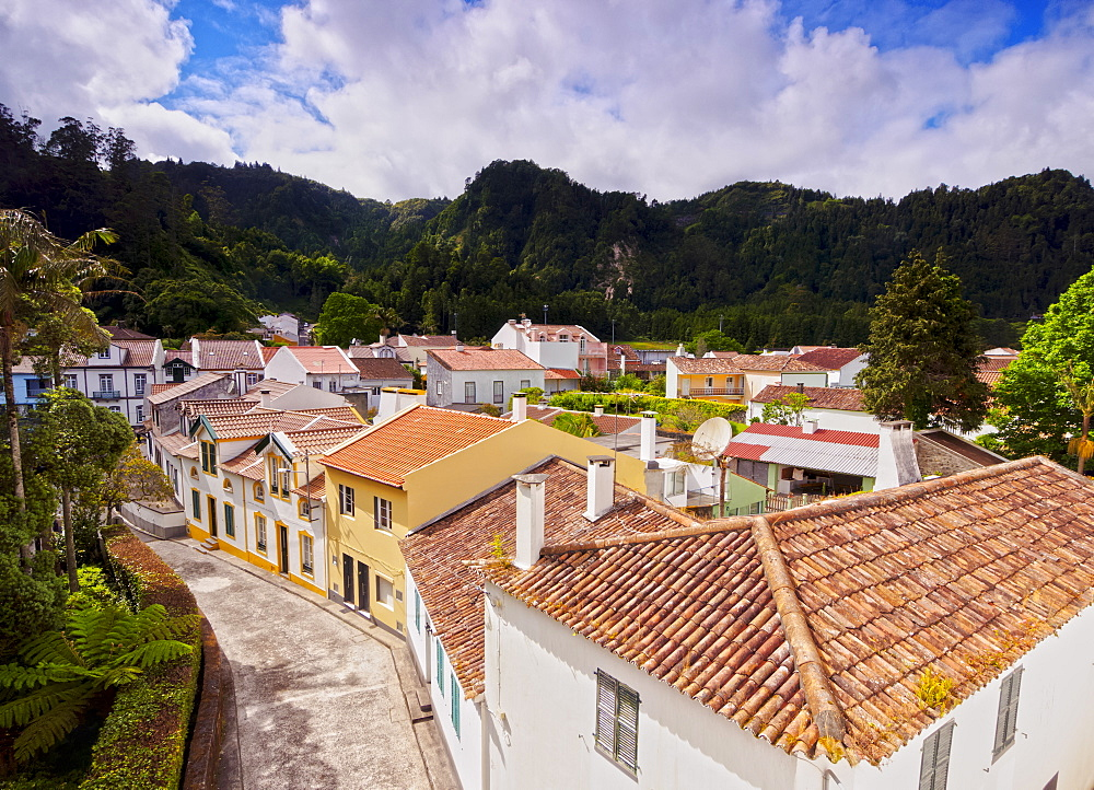 Furnas, elevated view, Sao Miguel Island, Azores, Portugal, Atlantic, Europe