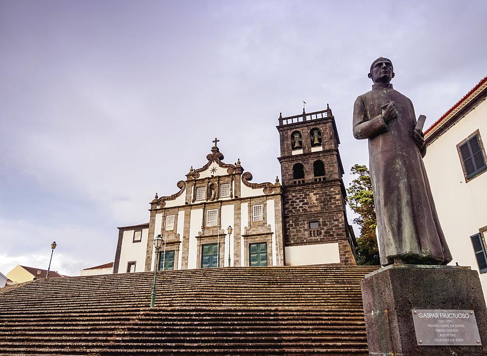 Church of Nossa Senhora da Estrela, Ribeira Grande, Sao Miguel Island, Azores, Portugal, Atlantic, Europe