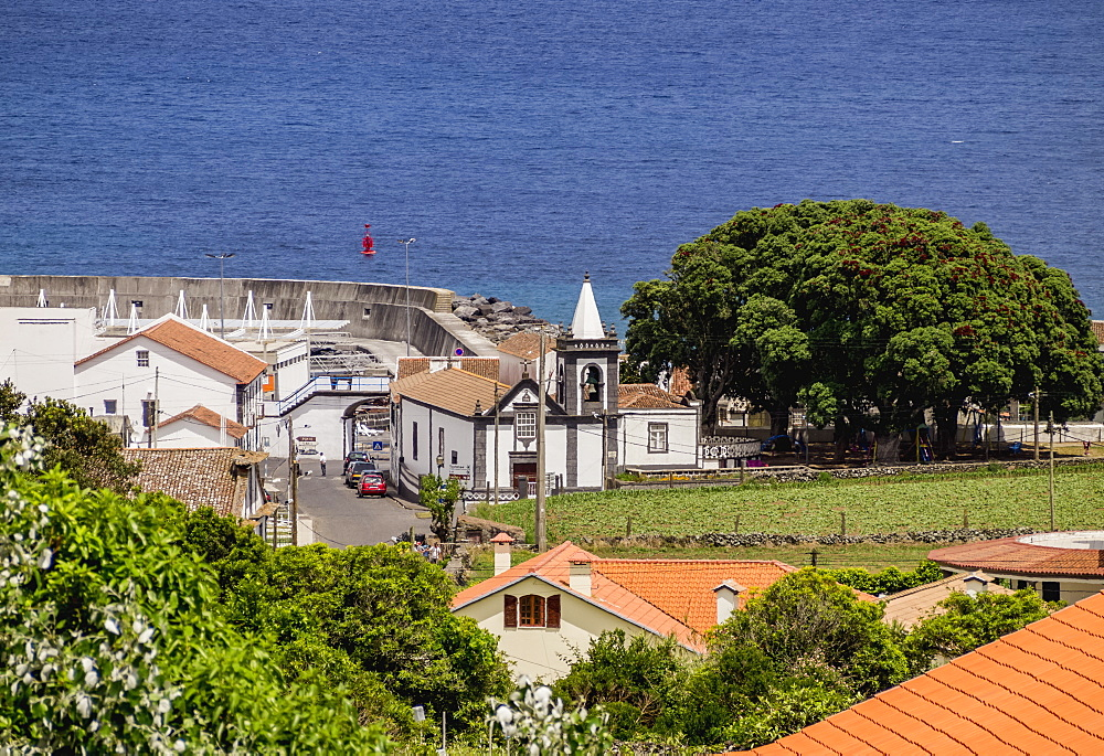 Praia, elevated view, Graciosa Island, Azores, Portugal, Atlantic, Europe