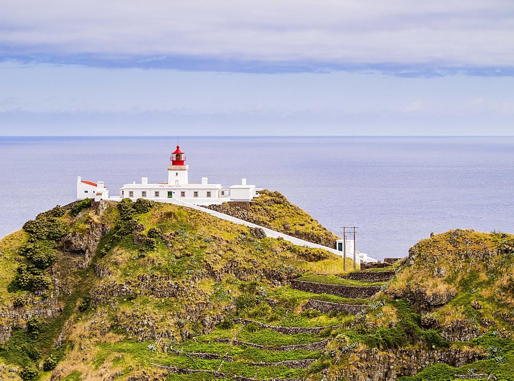 Lighthouse on Ponta do Castelo, Santa Maria Island, Azores, Portugal, Atlantic, Europe