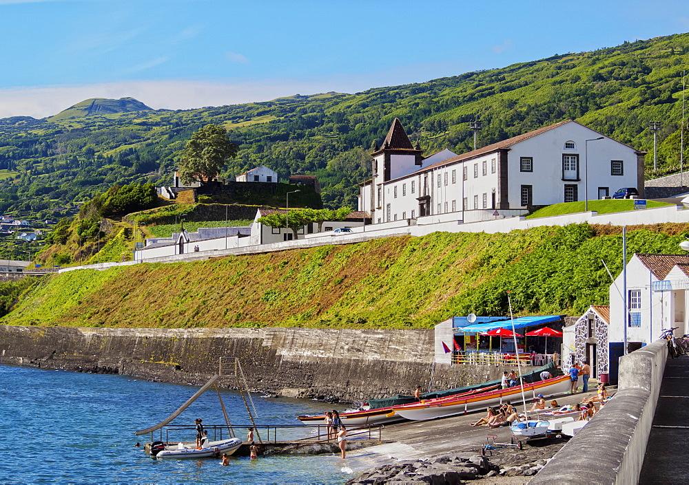 View towards the Convent of Sao Francisco, Lajes do Pico, Pico Island, Azores, Portugal, Atlantic, Europe