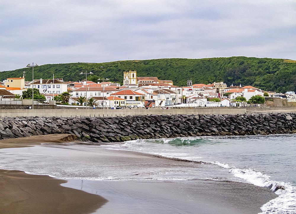 View towards Praia da Vitoria, Terceira Island, Azores, Portugal, Atlantic, Europe