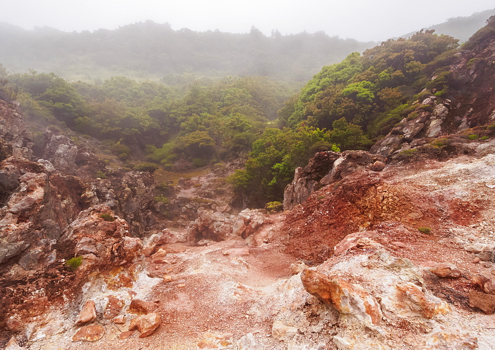 Furnas do Enxofre, fumaroles, Terceira Island, Azores, Portugal, Atlantic, Europe