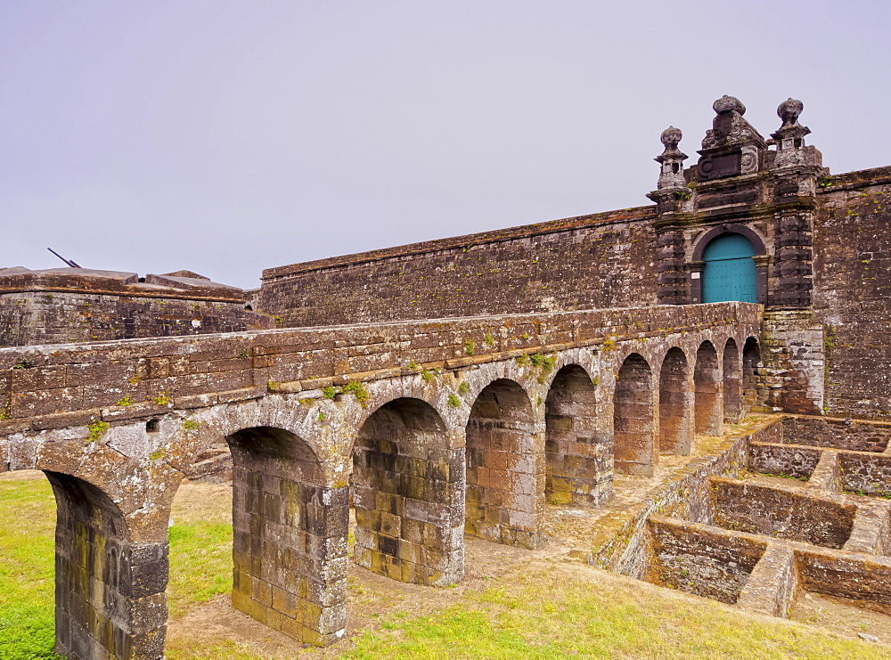 Castle of Sao Filipe (Sao Joao Baptista do Monte Brasil), UNESCO World Heritage Site, Angra do Heroismo, Terceira Island, Azores, Portugal, Atlantic, Europe