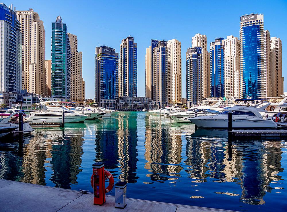 Dubai Marina, Dubai, United Arab Emirates, Middle East - 1245-974