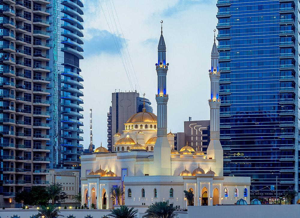 Mohammed Bin Ahmed Almulla Mosque, Dubai Marina, Dubai, United Arab Emirates, Middle East