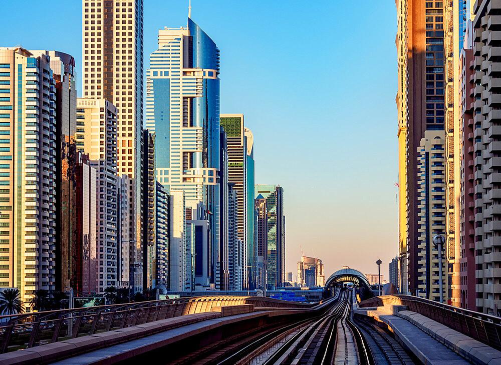 Dubai Metro, Dubai, United Arab Emirates, Middle East