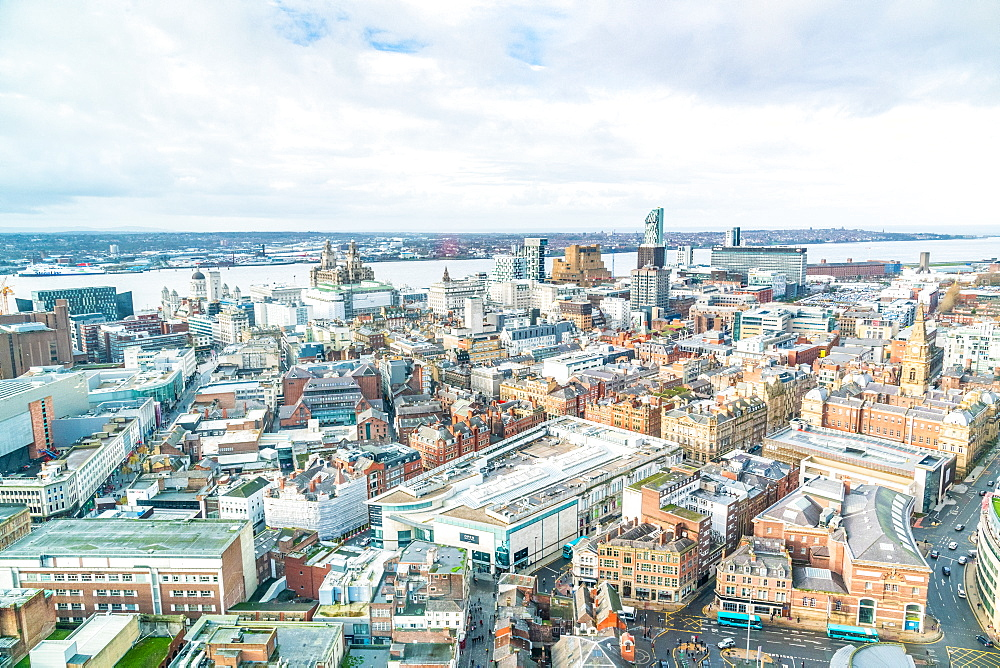 Views over Liverpool from the Radio Tower, Liverpool, Merseyside, UK, December 2018