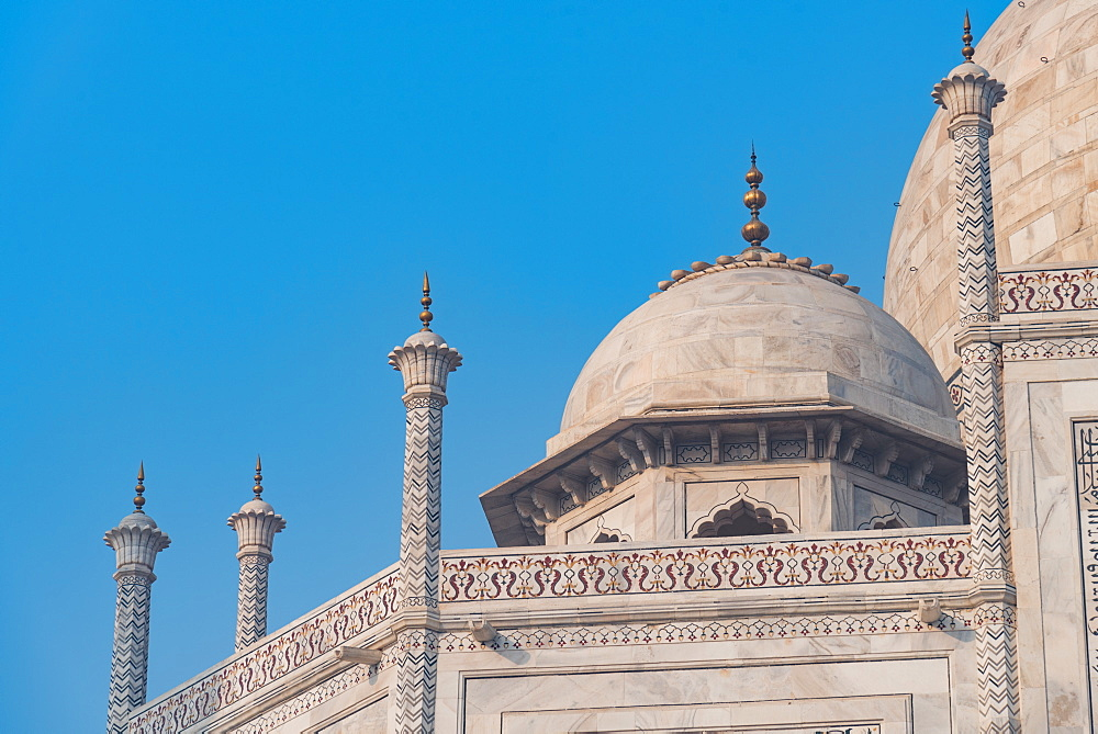 Details of the Taj Mahal, UNESCO World Heritage Site, Agra, Uttar Pradesh, India, Asia