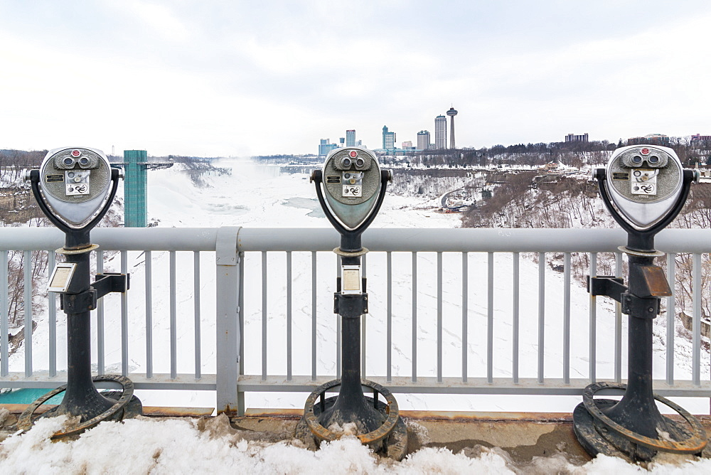March 2015 -- Coin operated binoculars at Niagara Falls, Buffalo, New York, USA