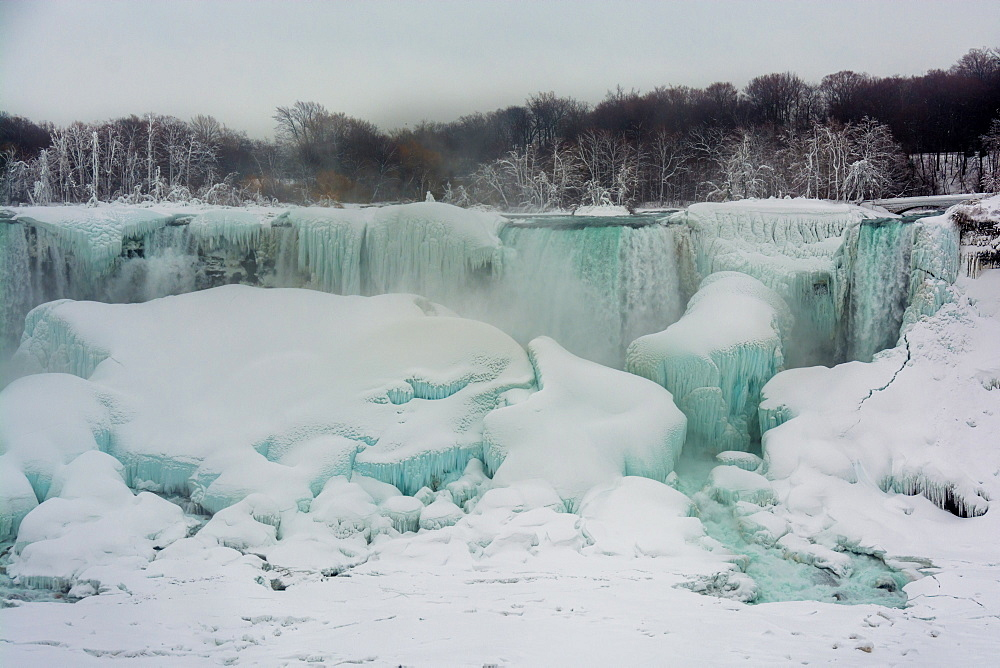 Frozen Niagara Falls in March, Ontario, Canada, North America - 1247-181