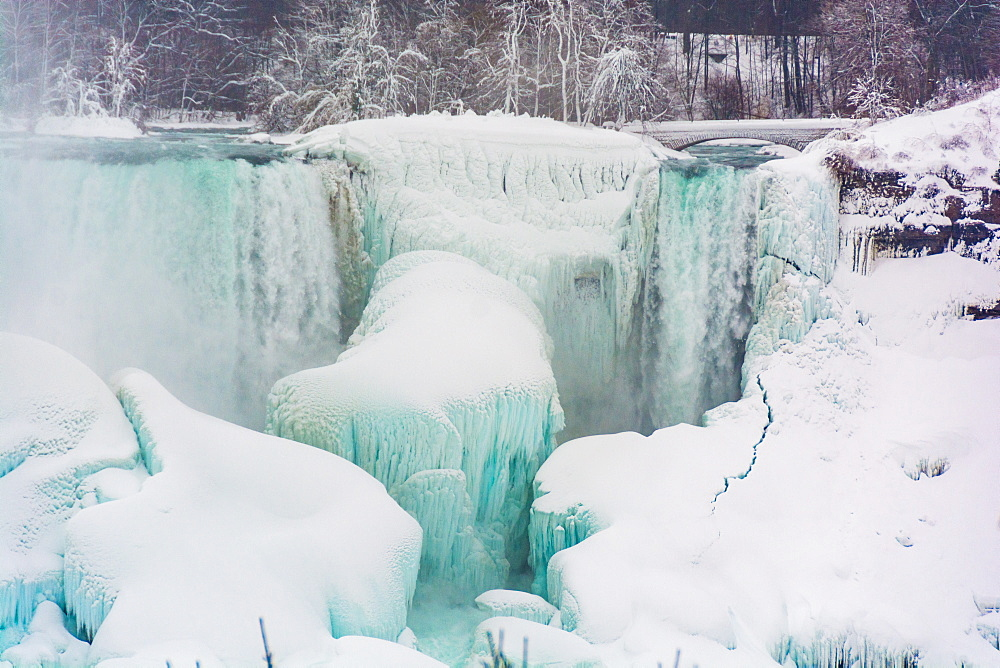Frozen Niagara Falls in March, Ontario, Canada, North America - 1247-182