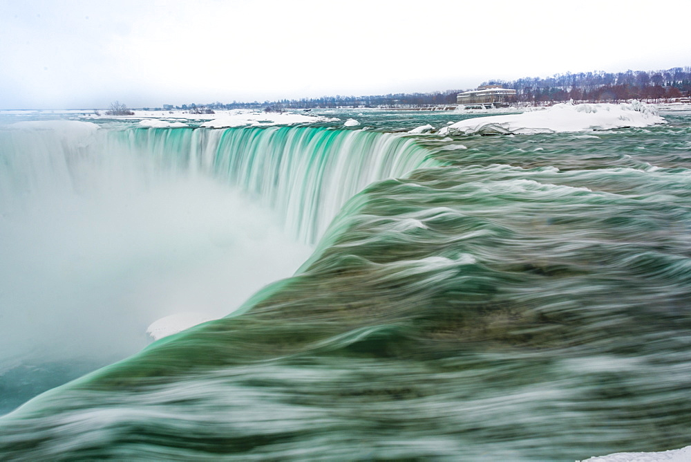 Frozen Niagara Falls in March, Ontario, Canada, North America - 1247-186