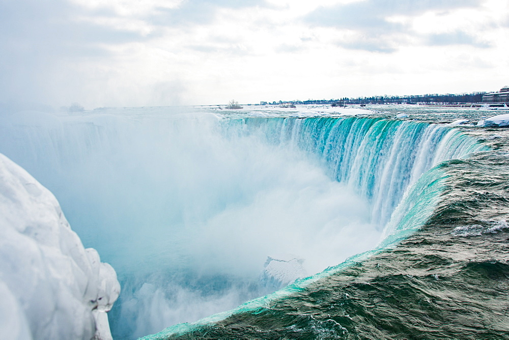 Frozen Niagara Falls in March, Ontario, Canada, North America - 1247-191