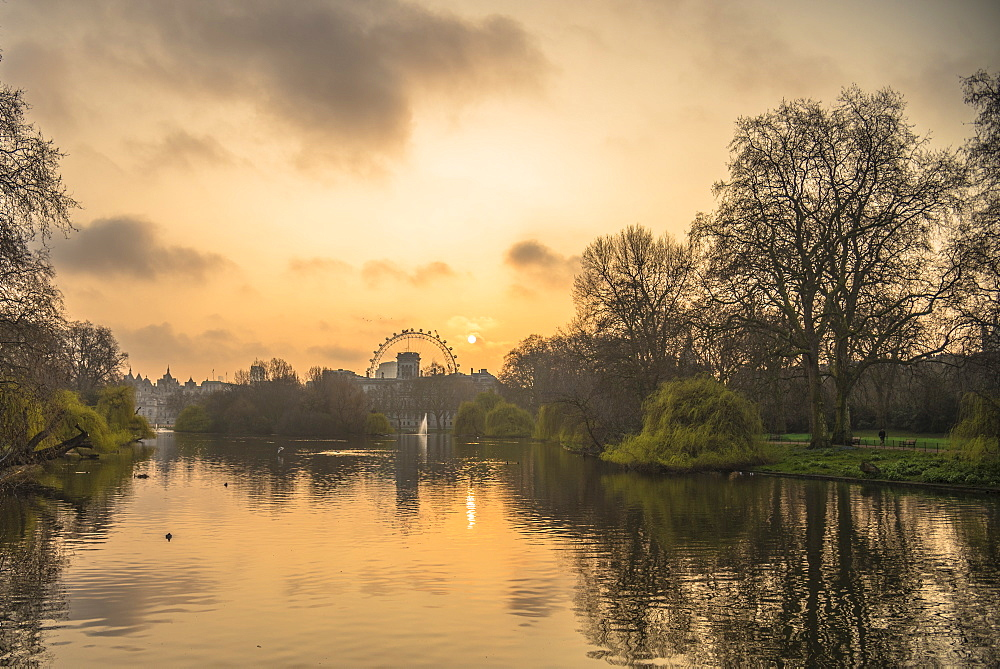 St. James Park sunrise, London, England, United Kingdom, Europe - 1247-28