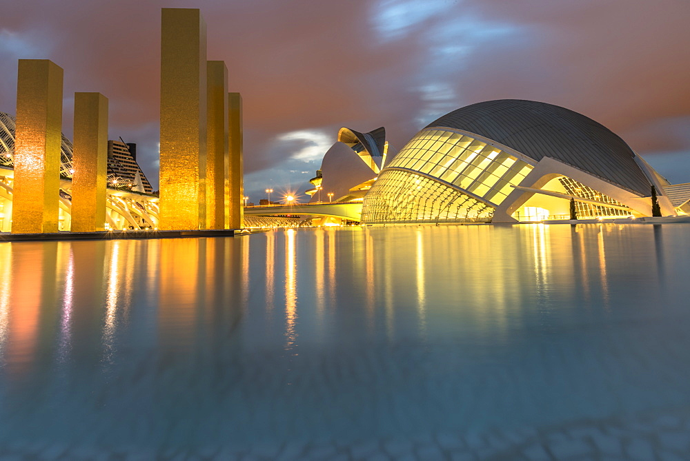 City of Arts and Sciences reflections, Valencia, Spain, Europe - 1247-43