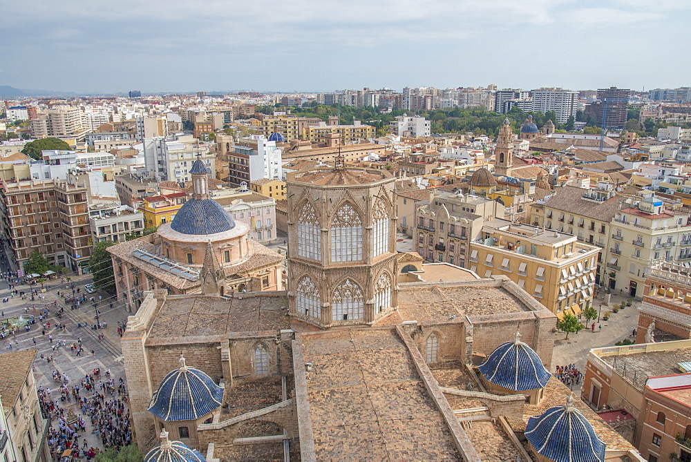 A view of the Diocesan Museum of Valencia Cathedral roof from the Valencia Cathedral