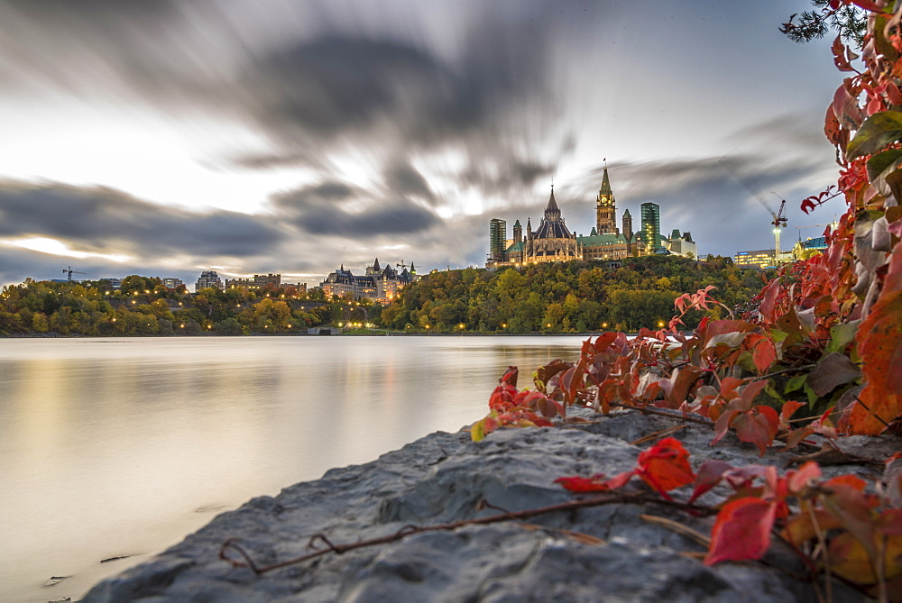 Parliament Hill in the fall, Ottawa, Ontario, Canada, North America - 1247-6