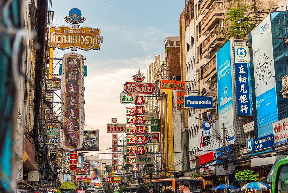 December 2017 Chinatown views Bangkok Thailand
