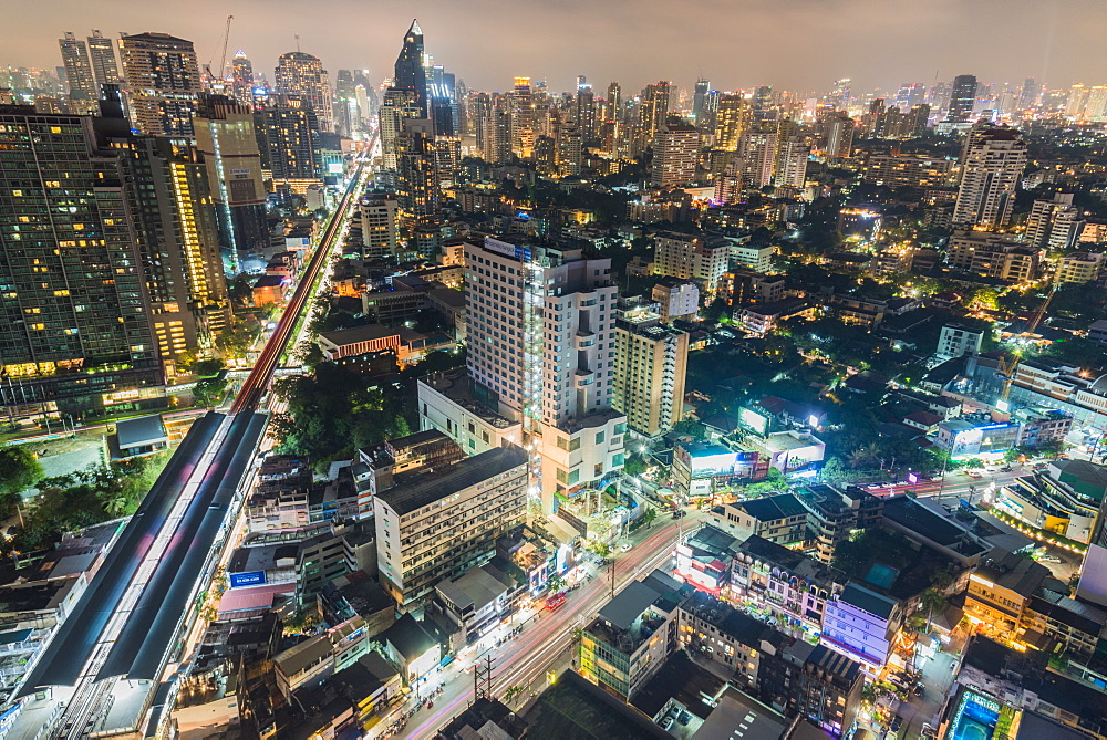 Bangkok at night, Bangkok, Thailand, Southeast Asia, Asia - 1247-70