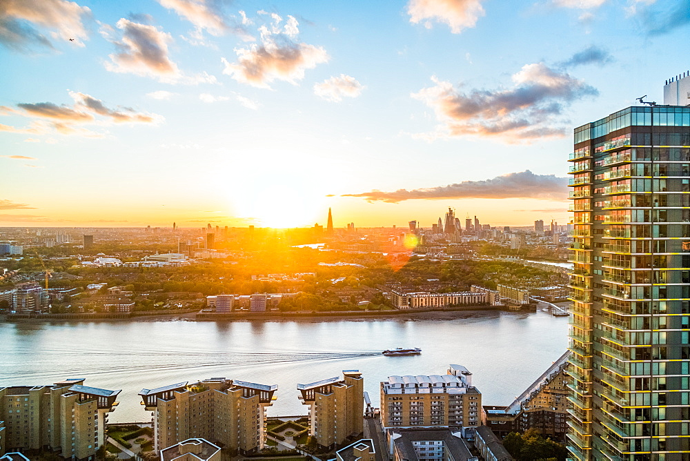 London , England. The sun sets over the city of London. - 1247-90