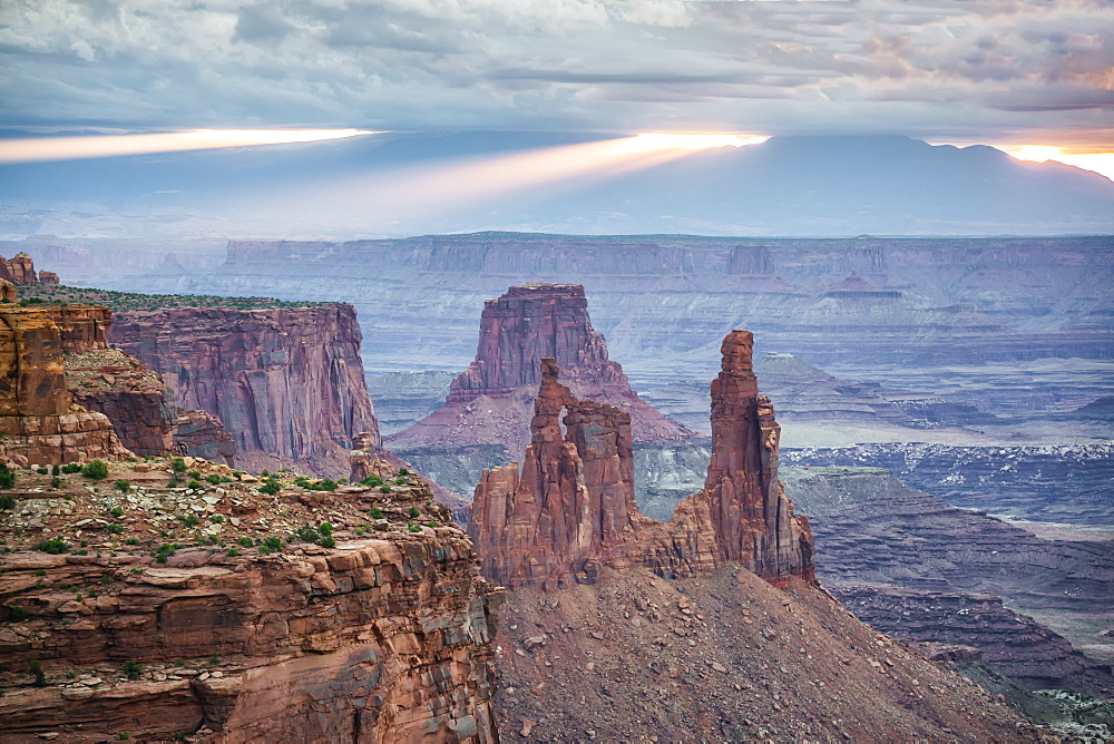 Cloudy sunrise in Canyonlands National Park, Moab, Utah, United States of America, North America