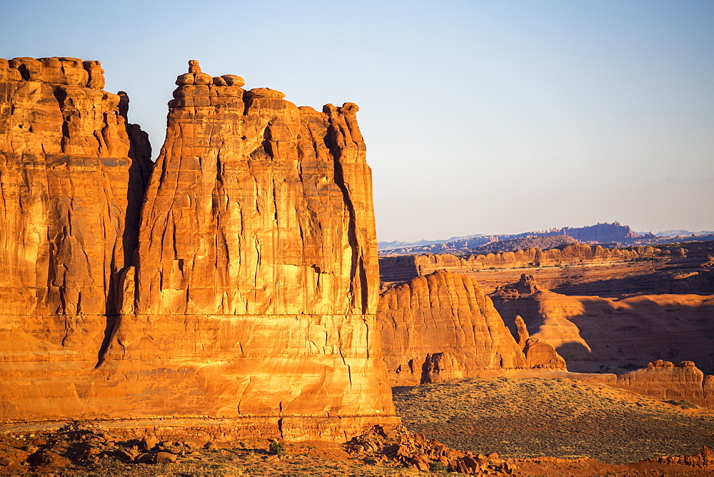 Rock formations in Avenue Park, Arches National Park, Moab, Utah, United States of America, North America