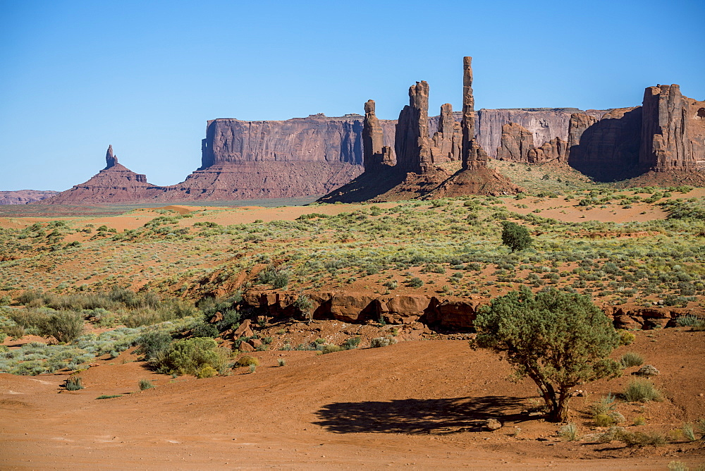 Rock formations, Monument Valley, Navajo Tribal Park, Arizona, United States of America, North America
