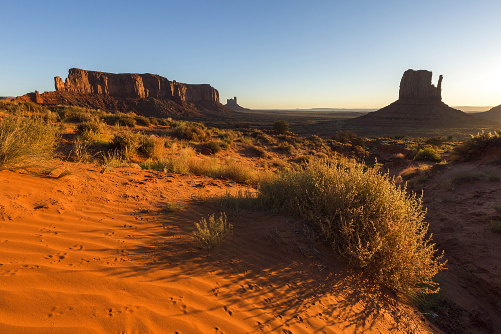 Red sand at Monument Valley, Navajo Tribal Park, Arizona, United States of America, North America