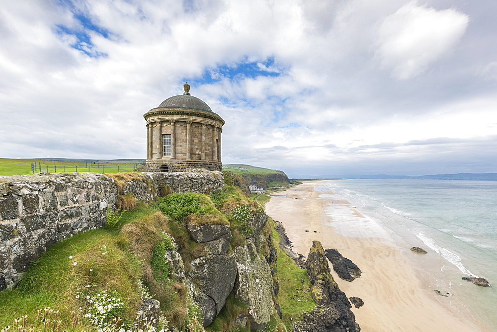 Mussenden Temple, Castlerock, County Londonderry, Ulster region, Northern Ireland, United Kingdom, Europe