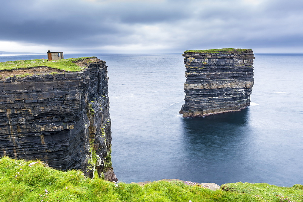 Downpatrick Head, Ballycastle, County Mayo, Connacht province, Republic of Ireland, Europe