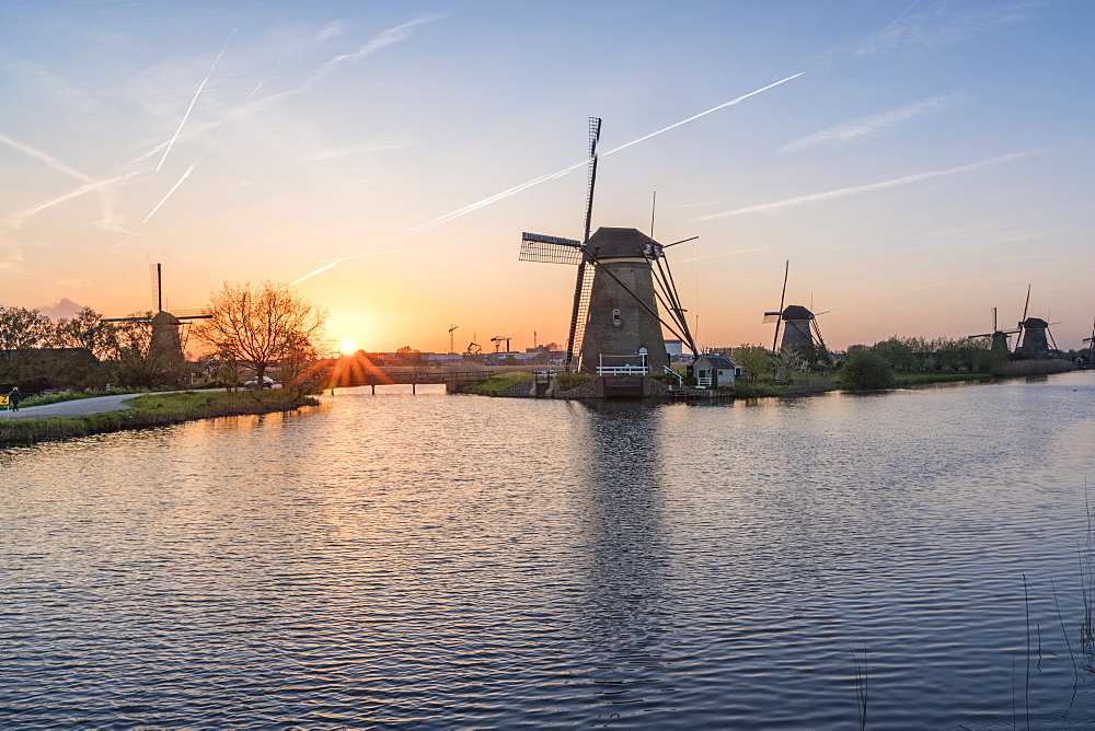 Kinderdijk, Molenwaard municipality, South Holland province, Netherlands.