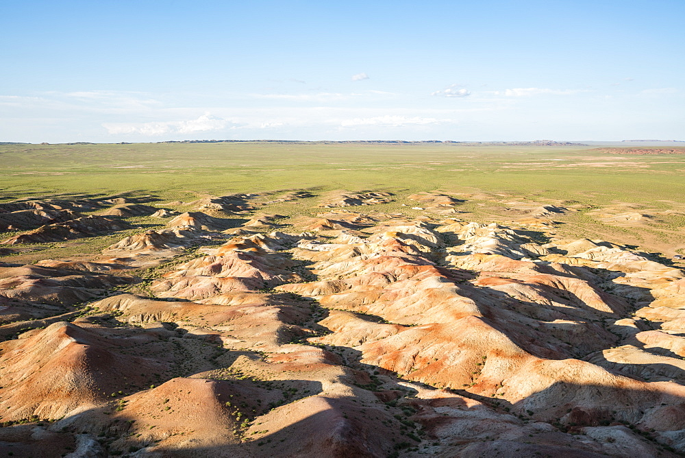 White Stupa sedimentary rock formations, Ulziit, Middle Gobi province, Mongolia, Central Asia, Asia