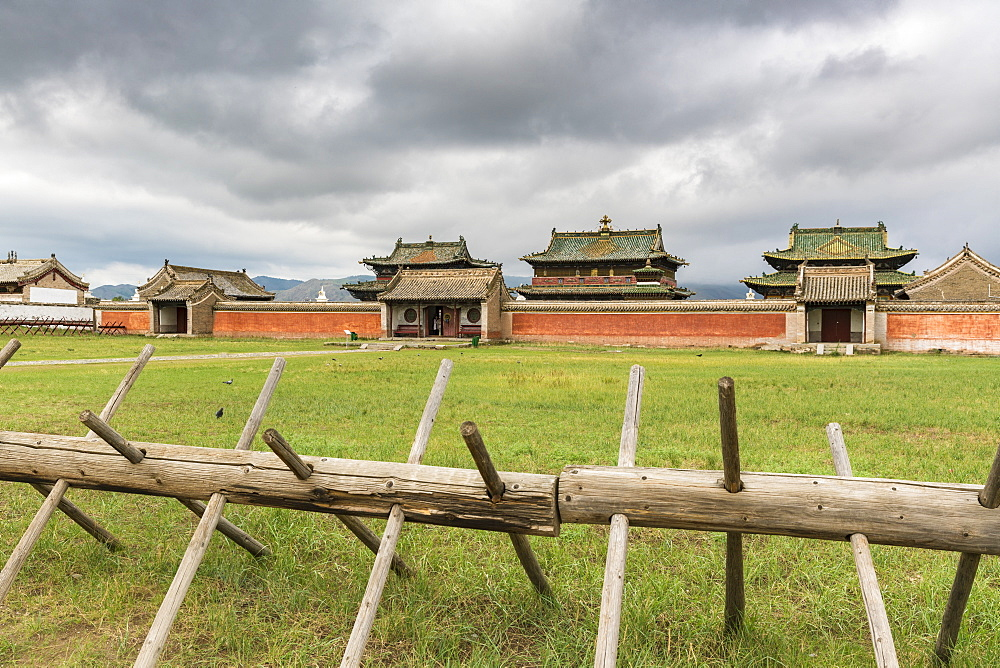 Temples in Erdene Zuu monastery. Harhorin, South Hangay province, Mongolia. - 1251-332